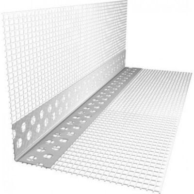 Профіль кутовий перфорований пластиковий з сіткою 3м ЕКО
