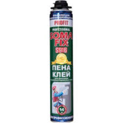 Клей-пена монтажная SOMA FIX (проф. PROFIT 750 мл) для теплоиз. плит