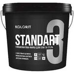 Колорит Standart 3 (Стандарт) 9л, База C, интер мат, латексная краска