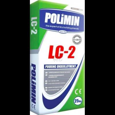 Полимин ЛЦ-2. Самовыравнивающаяся смесь толщиной 5 – 80 мм, мешок 25кг