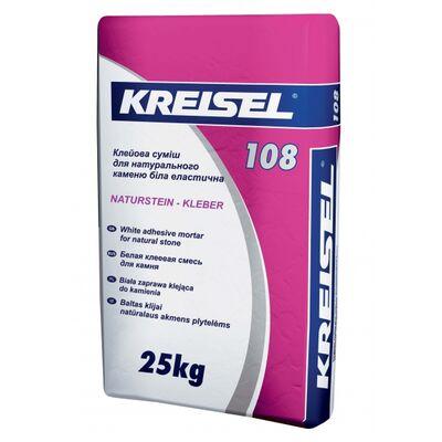 Kreisel 108 Клеевая смесь д / натурал.камня белая эластичная 25кг