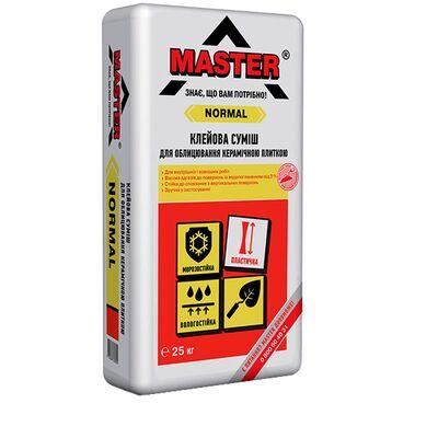 MASTER NORMAL Клей для плитки (для внутренних и наружных работ), 25кг