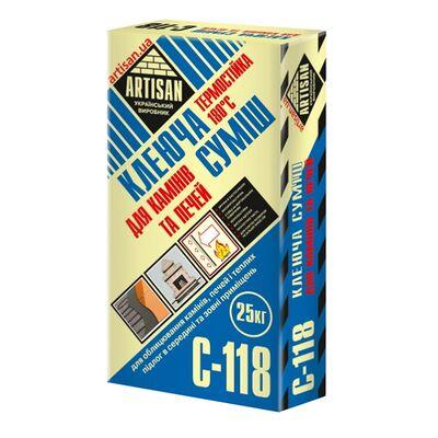 АРТИСАН С-118 / 25кг клеюча суміш термостійка 180град для камінів, печей, теплих підлог