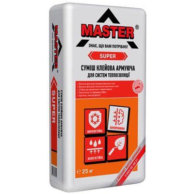 MASTER SUPER Эластичный универсальный клей для устройства систем теплоизоляции, 25кг