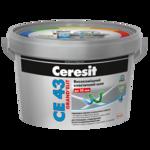 CERESIT CE-43 (антрацід) еластичний водостійкій Кольорове шов до 20мм, 2кг