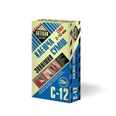 АРТИСАН С-12 / 25кг SUPER Клеящая смесь для наружных работ, плитка на плитку