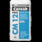 CERESIT CM-12 PRO Еластична клеюча суміш для плитки і керамограніта, мішок 27 кг