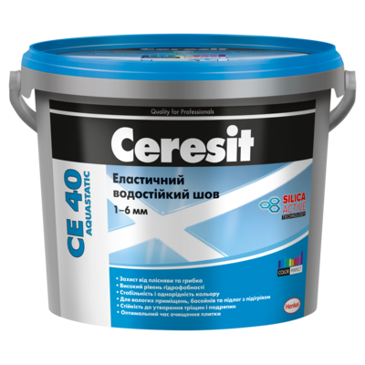 CERESIT CE-40/18 (черный) эластичный водостойкий цветной шов до 5мм, 2кг