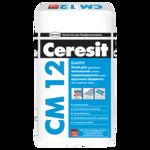 CERESIT CM-12 Эластичная клеящая смесь для плитки и керамогранита, мешок 25 кг