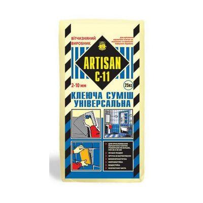 АРТИСАН С-11 / 25кг Клей для плитки Универсальный, для внутренних и наружных работ,
