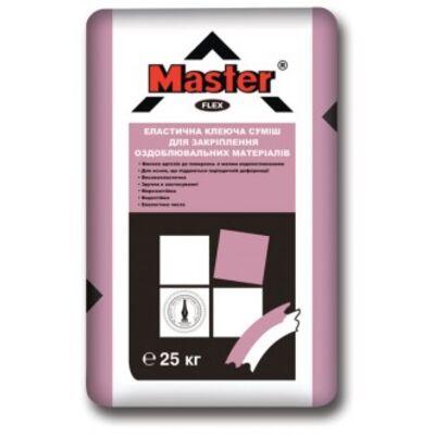 MASTER FLEX Эластичный универсальный клей для облицовки каминов и теплых полов, 25 кг