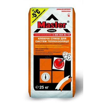 MASTER TERMOL Клей для приклеивания системы утепления пиностерольною плитой от - 5С, 25кг