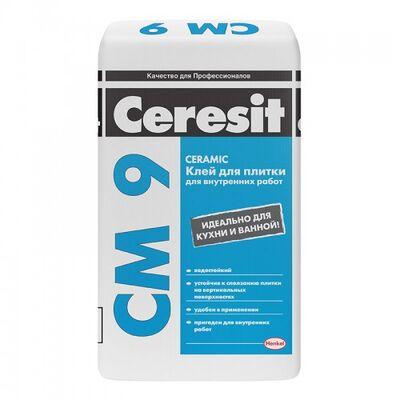 CERESIT CM-9 Клей для керамической плитки Standard, мешок 25 кг