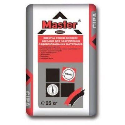 MASTER STOUNFIX Клей високої фіксації для граніту, важких плит, 25кг