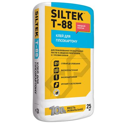 SILTEK Т-88 / 25кг Клей для гипсокартона