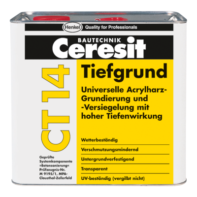 Ceresit CT-14 Грунтовка глибокопроникаюча на розчинниках, 5 л