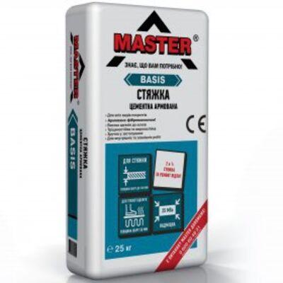 MASTER BASIS Стяжка цементная серая от 5мм до 40мм, 25кг