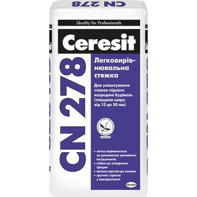 CERESIT СN-278 Підлога стяжка (15-50 мм), 25кг