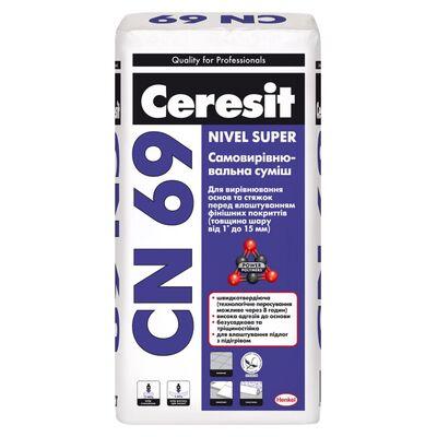 CERESIT СN-69 Самовирівнююча суміш (товщина шару від 3 до 15 мм), Мішок 25 кг