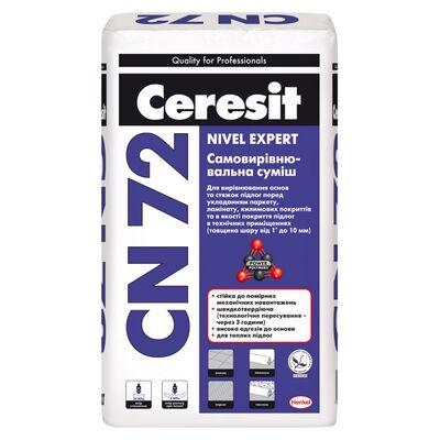 CERESIT СN-72 Самовыравнивающаяся смесь (толщина слоя от 2 до 10 мм), мешок 25 кг