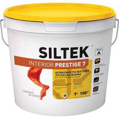 SILTEK-Interior Prestige 7-Краска латексная интерьерная стойкая к интенсивному мытью 9 л