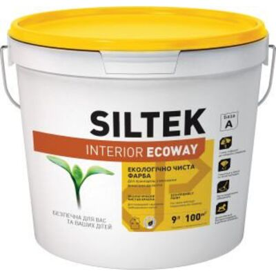 SILTEK Interior Ecoway Фарба екологічно чиста. Стійка до інтенсивної мийки 9л