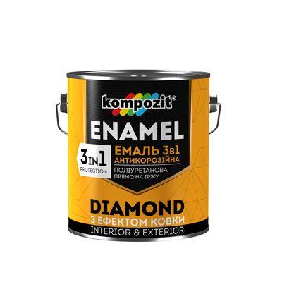 Эмаль антикоррозионная 3 в 1 DIAMOND Коричневая (2,5 л)