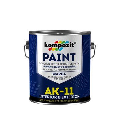 Фарба для бетонних підлог АК-11 Біла (10 кг)