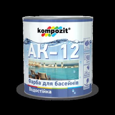 Фарба для басейнів АК-12 Блакитна (2,8 кг)