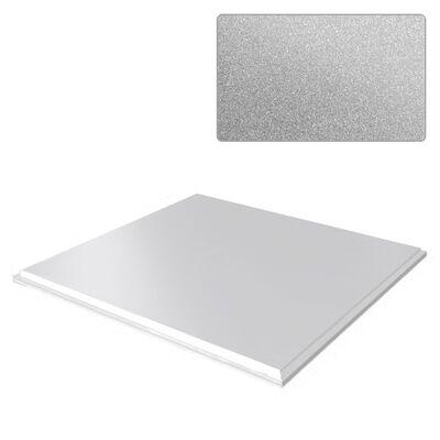 Потолочная плита Board 600х600 Zn RAL 9006 серый металлик