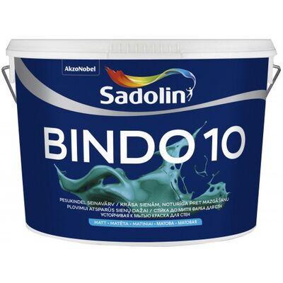 Sadolin Матовая краска для стен c высокой устойчивостью к мытью Краска BINDO 10 белая 20 л