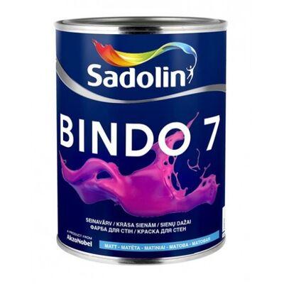 Sadolin Матовая моющаяся краска для стен и потолка Краска BINDO 7 белая 10 л
