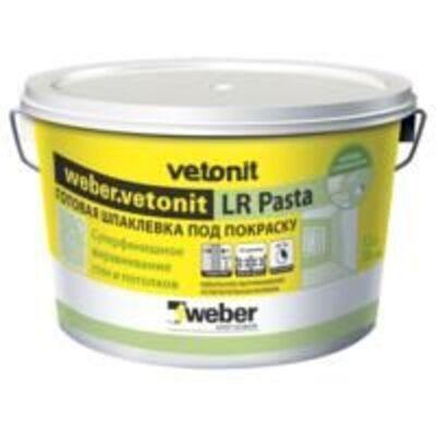 Шпаклівка Vetonit LR Pasta WEBER готова шпаклівка 20кг