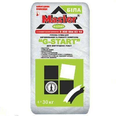 MASTER G - START Стартовая штукатурка для внутренних работ на основе гипса (30 мм слой), 30 кг